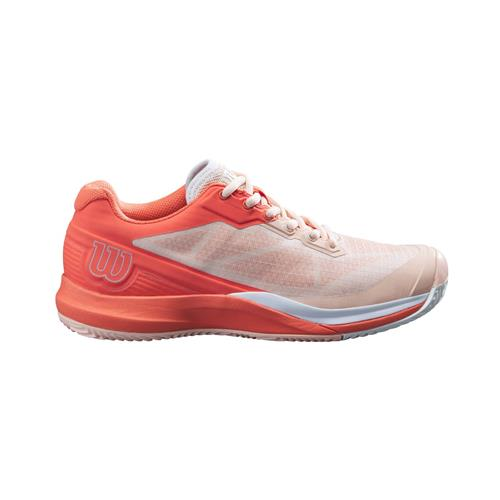 Wilson Rush Pro 3.5 Clay Womens Tennis Shoes (Tropical Peach/Hot Coral/White)