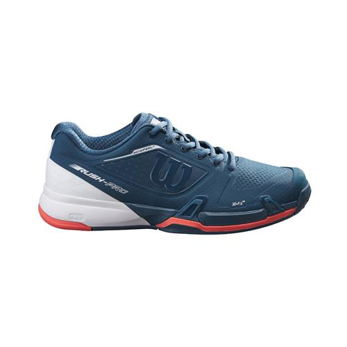 Wilson Rush Pro 2.5 2021 Womens Tennis Shoes (Majolica Blue,White,Hot Coral)