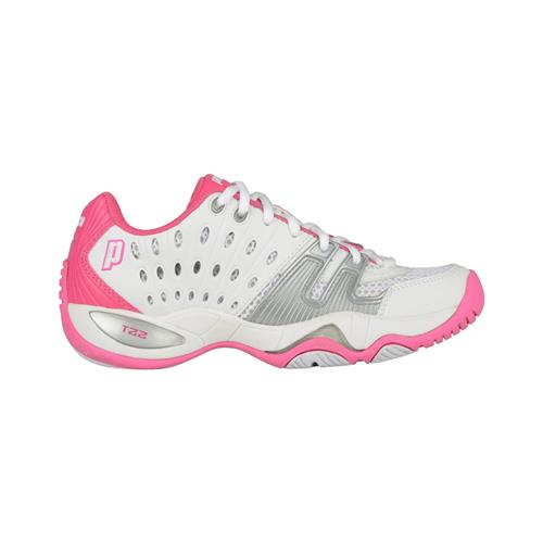 Prince T22 Womens Shoe (White/Pink)