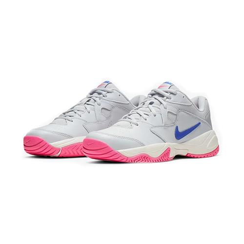 Nike Court Lite 2 Womens Shoe (Platinum/Blue)