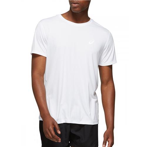 Asics Mens Silver Short Sleeved Top (Brilliant White)