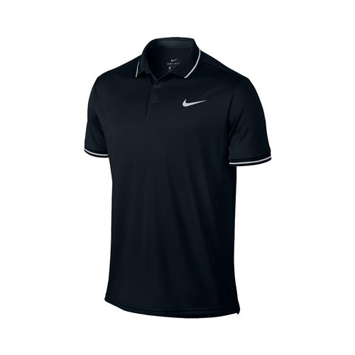 Nike Court Mens Dri-Fit Polo (Black/White)