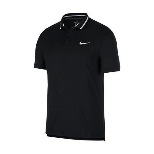 Nike Court Mens Dri-Fit Polo Pique (Black)