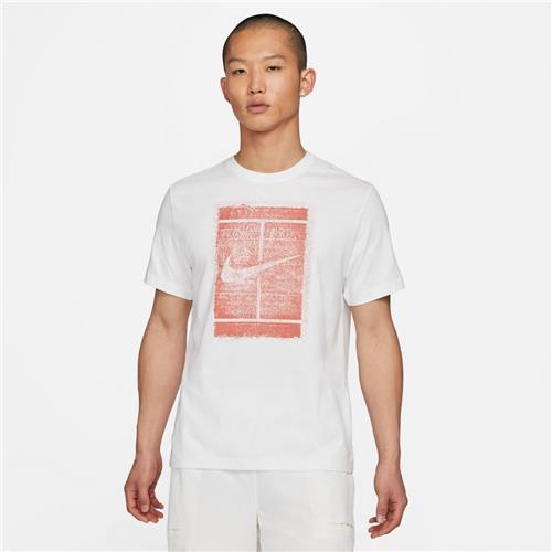 Nike Court Mens Seasonal Tee (White/Martian Sunrise)