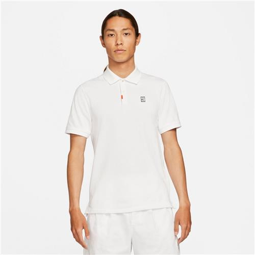Nike Mens Polo Slam Slim Fit (White/White)
