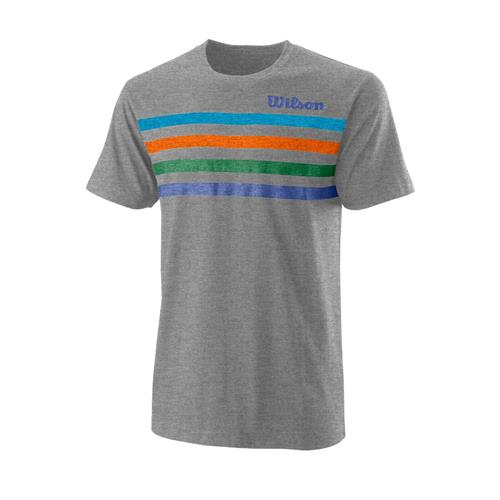 Wilson Mens Slams Tech Tee (Heather Grey)