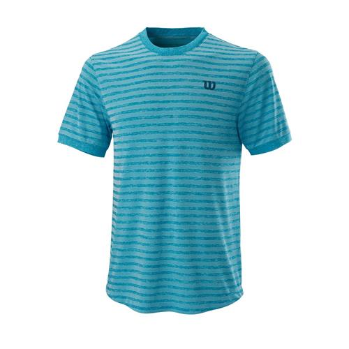Wilson Mens Stripe Crew (Barrier Reef/White)