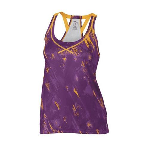 Wilson Womens SP Paint Print Mesh BF Tank (Purple)