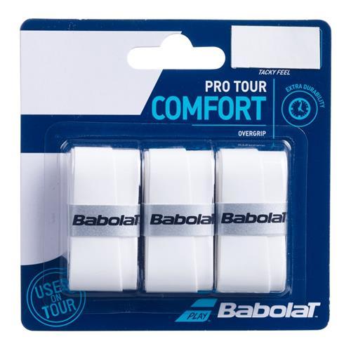 Babolat Pro Tour Comfort Overgrip 3pk (White)