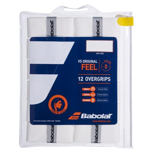 Babolat VS Original Overgrip 12pk (White)