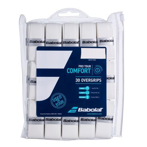 Babolat Pro Tour Comfort Overgrip 30pk (White)