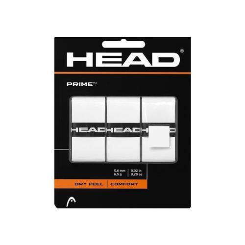 Head Prime Comfort Overgrip 3pk (White)