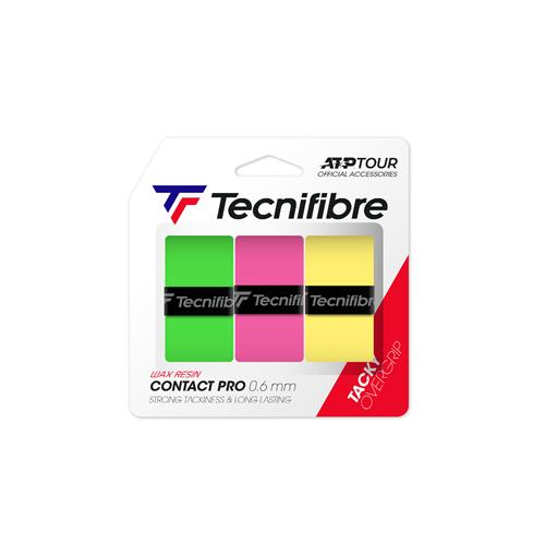 Tecnifibre Contact Pro Overgrip 3pk (Assorted Fluo)
