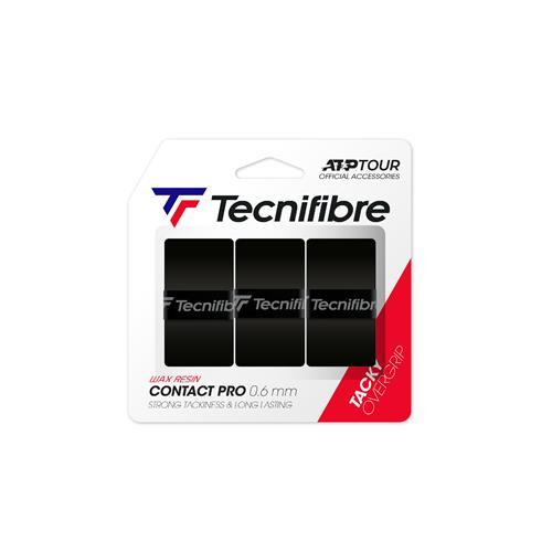 Tecnifibre Contact Pro Soft Overgrip 3pk (Black)