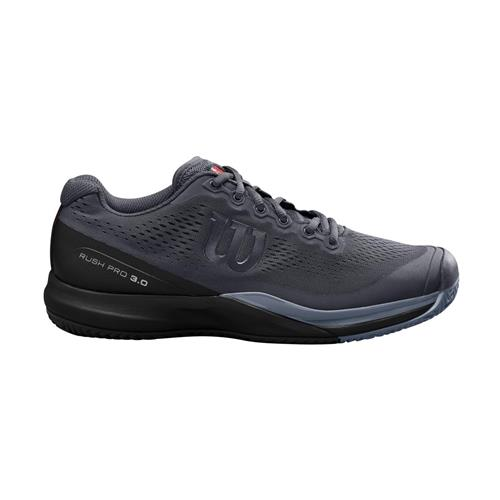 Wilson Rush Pro 3.0 Mens Shoe (Ebony/Black/Infrared)