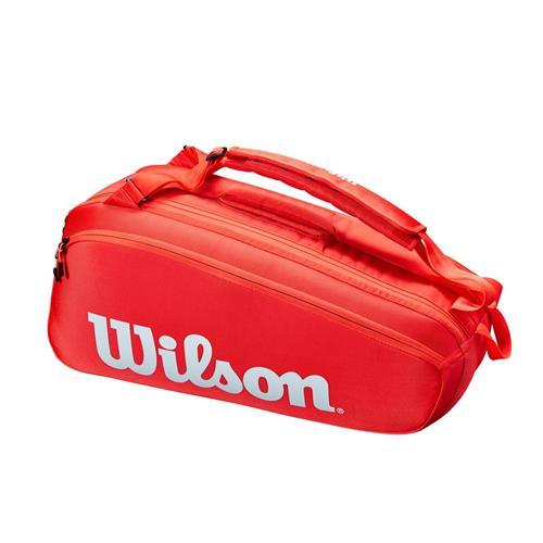 Wilson Super Tour 6 Pack Racquet Bag (Red)