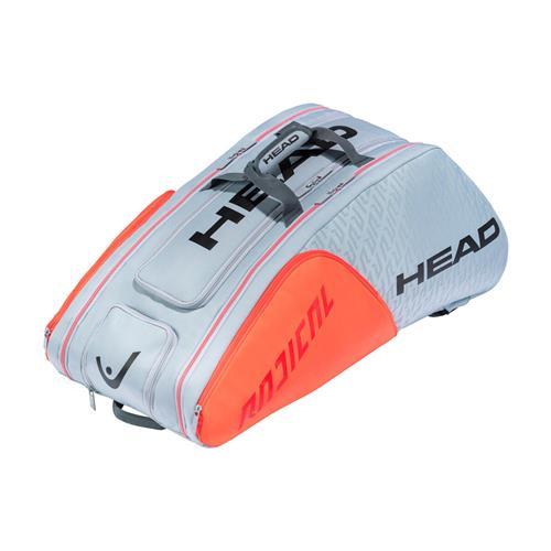 Head Radical 12 Racquet Monstercombi Tennis Bag 2021 (Grey/Orange)