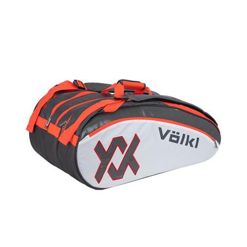 Volkl Tour 12 Mega Racquet Bag Charcoal/White/Lava