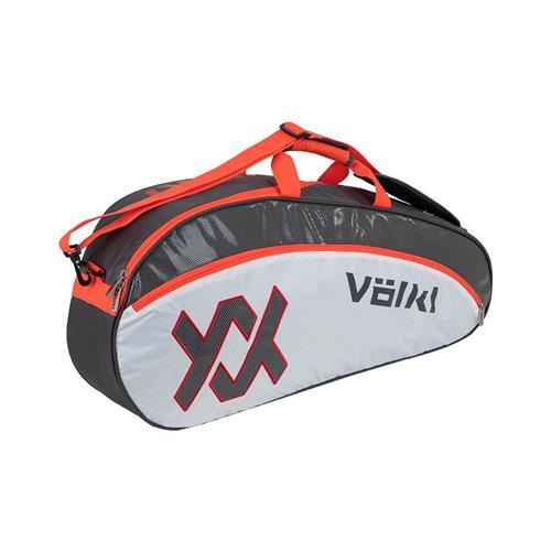 Volkl Tour Pro 3 Racquet Bag Charcoal/White/Lava