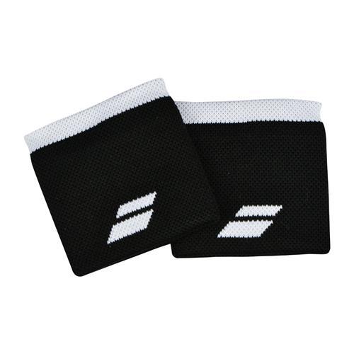 Babolat Logo Wristband 2 Pack (Black/White)