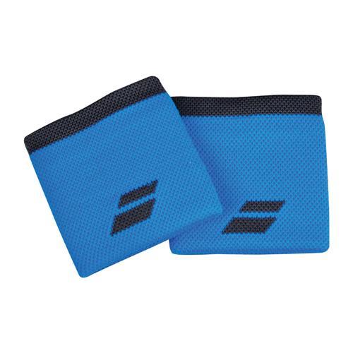 Babolat Logo Wristband 2 Pack (Diva Blue/Dark Grey)