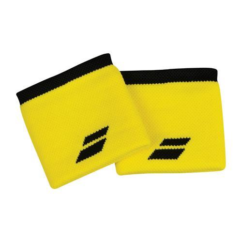 Babolat Logo Wristband 2 Pack (Yellow/Black)