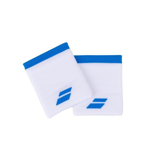 Babolat Logo Wristband Jumbo 2 Pack (White/Blue)