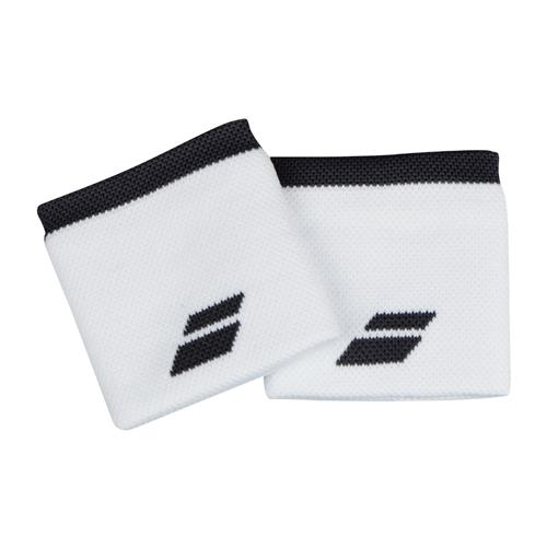 Babolat Logo Wristband Jumbo 2 Pack (White/Dark Grey)