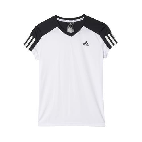 Adidas Girls Club Tee (White/Black)