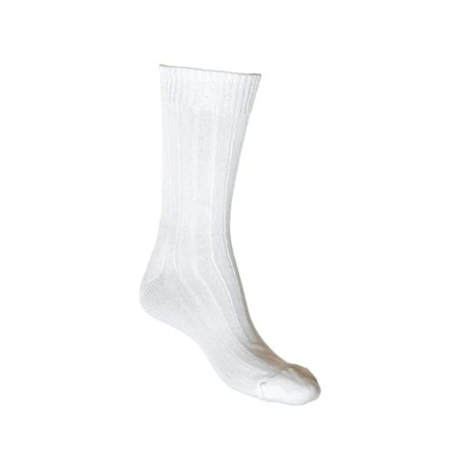 Lafitte Cotton Cushion Foot Socks (White)