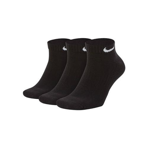 Nike Everyday Cotton Cushioned Low Socks (Black)