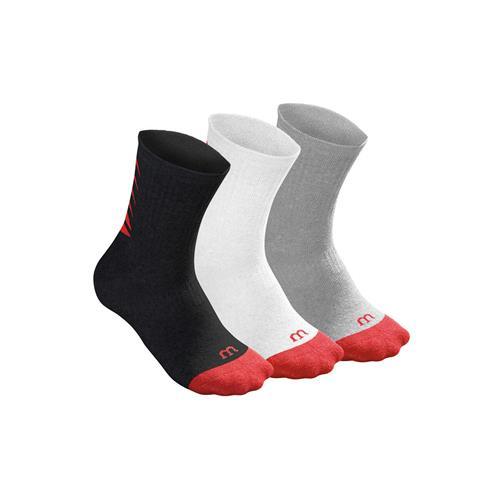 Wilson Youth Crew Sock 3pk (Assorted)