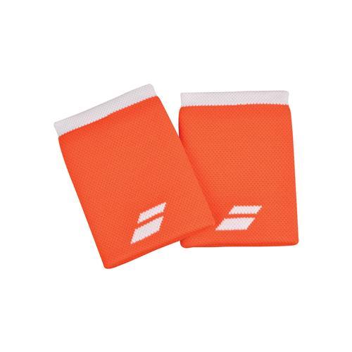 Babolat Logo Wristband Jumbo 2 Pack (Orange/White)
