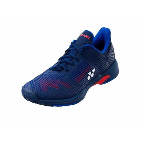 Yonex 2021 Sonicage 2 All Court Wide Men's Tennis Shoes (Navy/Red)
