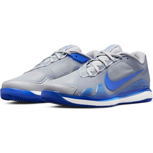 Nike Air Zoom Vapor Pro Hard Court Men's Tennis Shoes (Lite Smoke Grey/Hyper Royal)