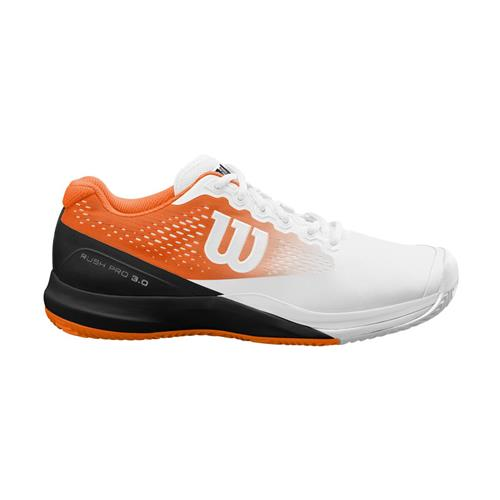 Wilson Rush Pro 3.0 Paris Clay Mens Shoe (White/Orange/Black)