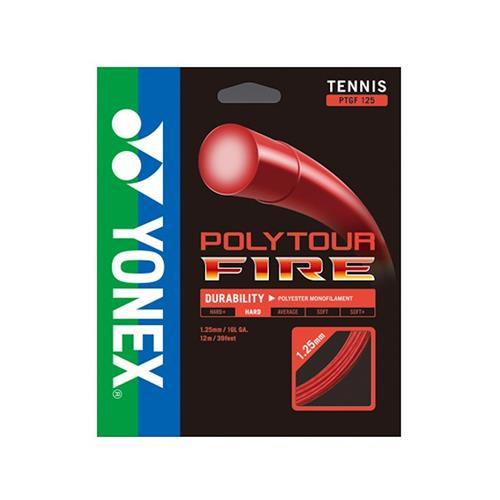 Yonex Poly Tour Fire 125/16 (Red) String 12m Set