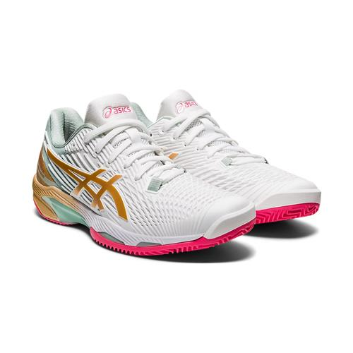 Asics Solution Speed FF 2 Clay L.E. Womens Shoe (White/Champagne)