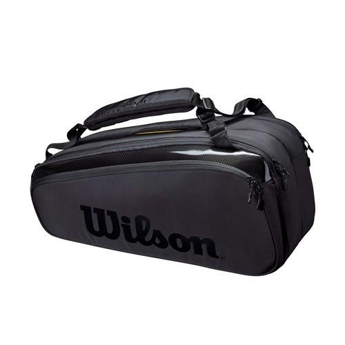 Wilson Super Tour Pro Staff 9 Pack Tennis Bag (Black)