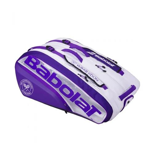 Babolat Pure Wimbledon 2021 12 Racquet Bag (White/Purple)