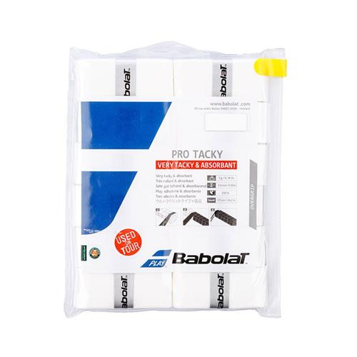 Babolat Pro Tacky Overgrip 12 Pack (White)