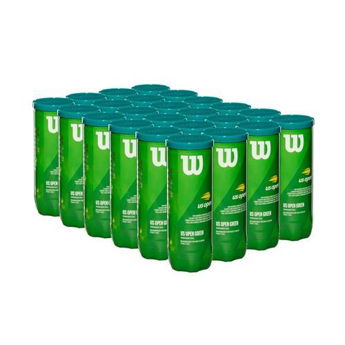 Wilson US Open Green Tournament 3 Ball Can X 24 Box
