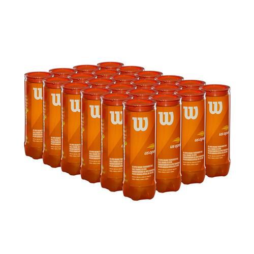 Wilson US Open Orange Tournament Ball 3 Ball Can X 24 Cans