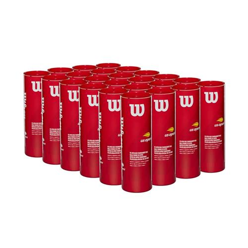 Wilson US Open Red Tournament 4 Ball Can (Box Of 24 Cans)