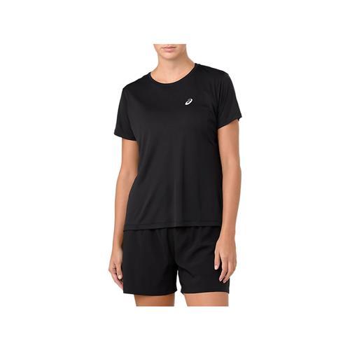 Asics Women's Silver Short Sleeved Top (Performance Black)