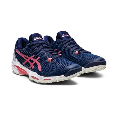 Asics Solution Speed FF 2 Clay Womens Shoe (Peacoat/Smokey Rose)
