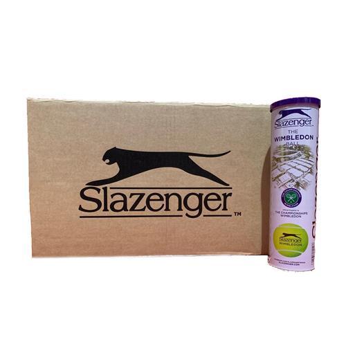 Slazenger Wimbledon 4 Ball White Can (Box Of 18)