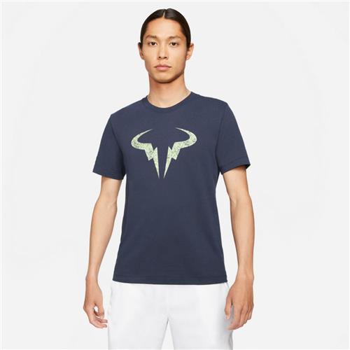 Nike Men's Rafa Paris Clay Tee (Obsidian/Lime Glow)