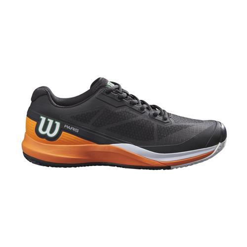 Wilson Rush Pro 3.5 Clay Paris Mens Tennis Shoes (Black/Orange)