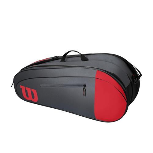 Wilson Team 6 Pack Racquet Bag (Red/Grey)